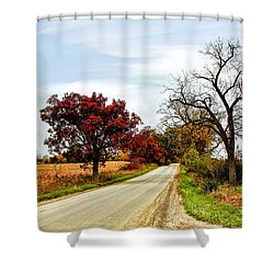 Midwest Autumn  Shower Curtain by Pat Cook