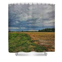 Midwest Weather Shower Curtain by Pat Cook