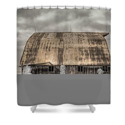 Midwestern Barn Shower Curtain by Jane Linders