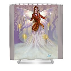 Shower Curtain featuring the painting Midwinter Blessings by Amyla Silverflame