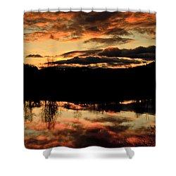 Midwinter Sunrise Shower Curtain