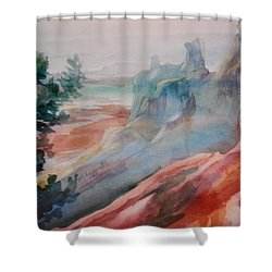 Mighty Canyon Shower Curtain