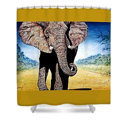 Mighty Elephant Shower Curtain by Hartmut Jager