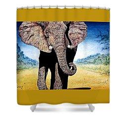 Mighty Elephant Shower Curtain