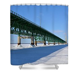 Mighty Mac On Ice Shower Curtain