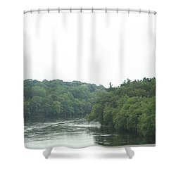 Mighty Merrimack River Shower Curtain