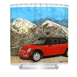 Mighty Mini Cooper S Shower Curtain by Jack Pumphrey
