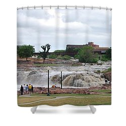 Mighty Sioux Falls Shower Curtain by Judy Hall-Folde