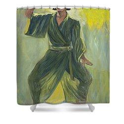 Mighty Woman Kick-butt Shower Curtain