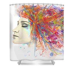 Migraine Shower Curtain by Angela A Stanton