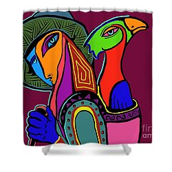 Migrating Bird Shower Curtain