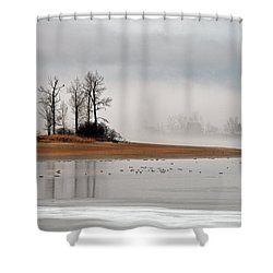 Migration At Rest Shower Curtain