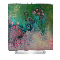 Shower Curtain featuring the painting Migration by Laurie Maves ART