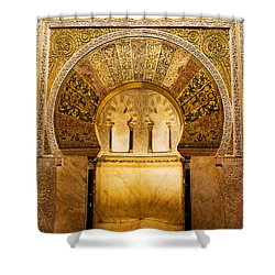 Mihrab In The Great Mosque Of Cordoba Shower Curtain