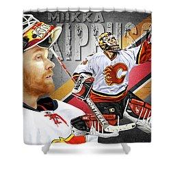 Miikka Kiprusoff Shower Curtain by Don Olea
