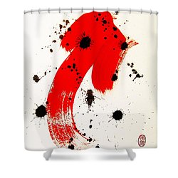 Shower Curtain featuring the painting Mikado Rising by Roberto Prusso