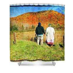 Mike And Lisa Shower Curtain
