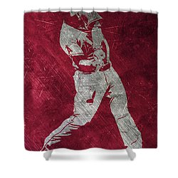 Mike Trout Los Angeles Angels Art Shower Curtain