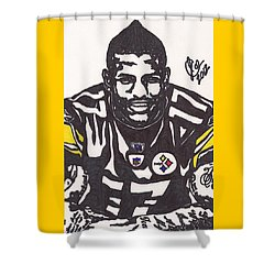 Shower Curtain featuring the drawing Mike Wallace 1 by Jeremiah Colley
