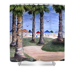 Mike's Hermosa Beach Shower Curtain