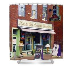 Mike's Ice Cream Fountain Shower Curtain