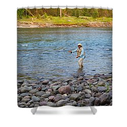 Mike's River-1 Shower Curtain