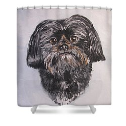 Mikey Shower Curtain by Jack Skinner