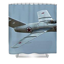 Mikoyan-gurevich Mig-15 Nx87cn Chino California April 30 2016 Shower Curtain by Brian Lockett