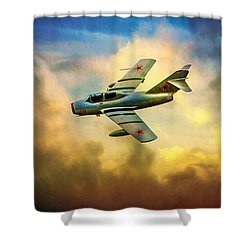 Shower Curtain featuring the photograph Mikoyan-gurevich Mig-15uti by Chris Lord