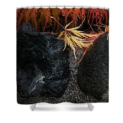Miksang 5 Autumn Shower Curtain by Theresa Tahara