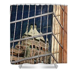 Miksang 9 City Shower Curtain by Theresa Tahara