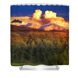 Milagro Cloud Theater Over Truchas Peaks Nm Shower Curtain