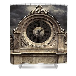 Milan Clock Shower Curtain