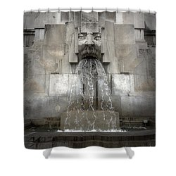 Milan Train Station Fountain Shower Curtain