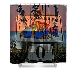 Mile Marker 0 Sunset Shower Curtain by David Lee Thompson