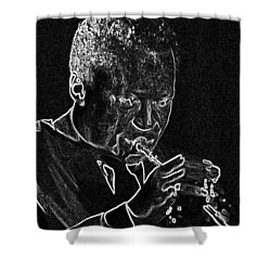 Miles Davis Shower Curtain by Charles Shoup