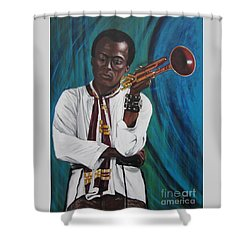 Miles-in A Really Cool White Shirt Shower Curtain