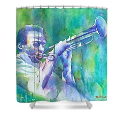 Miles Is Cool Shower Curtain