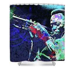 Miles Jazz Shower Curtain