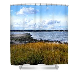Milford Island Shower Curtain