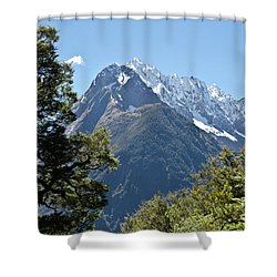 Milford Sound, New Zealand Shower Curtain