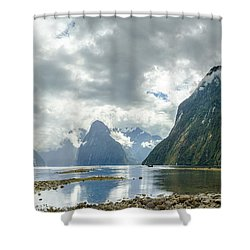 Milford Sound Panorama Shower Curtain