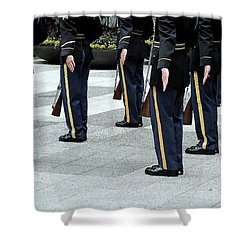 Military Formation Shower Curtain by Karol Livote