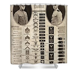 Shower Curtain featuring the photograph Military Rank Identification 1917 by Daniel Hagerman