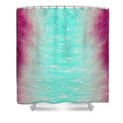 Shower Curtain featuring the digital art Milk Effects No2 by Matt Lindley