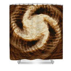 Shower Curtain featuring the digital art Milk Effects No4 by Matt Lindley
