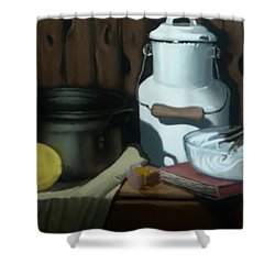Milk Jug Meringue Shower Curtain
