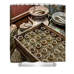 Milk Truck Interior 801 Shower Curtain