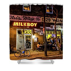 Milkboy - 1033 Shower Curtain by David Sutton