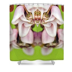 Milkweed Mirror Image Pareidolia Shower Curtain